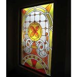 (ST-D001) Leaded art glass panel