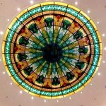 (ST-D006) Leaded art glass skylight