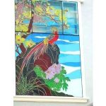 (ST-D009) A large wall art glass