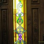 (ST-D013) Art glass inserts for wood door