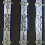 (ST-D028) Leaded art design on windows