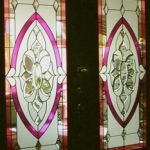 (ST-D030) Leaded art glass door
