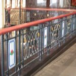 (ST-D033) Leaded art glass on railing