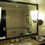 (TM-R005) Custom built hotel bath mirror
