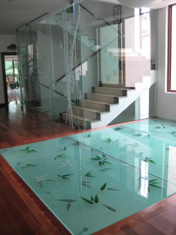 Beautiful Glass Flooring